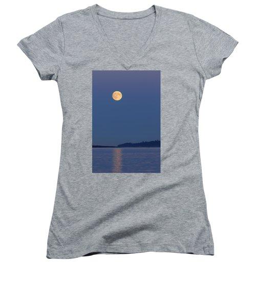 Moonlight - 365-224 Women's V-Neck T-Shirt (Junior Cut) by Inge Riis McDonald