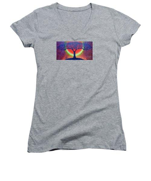 moonshine-2/God-is light/ Women's V-Neck T-Shirt