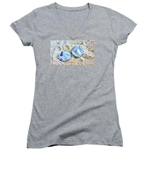 Moonstones Women's V-Neck T-Shirt (Junior Cut) by Rachel Hannah