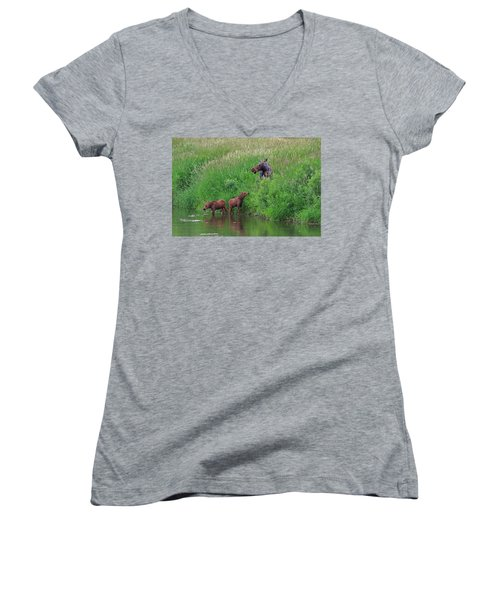 Moose Play Women's V-Neck (Athletic Fit)