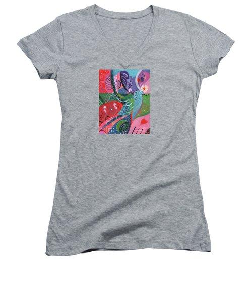More Love Women's V-Neck T-Shirt