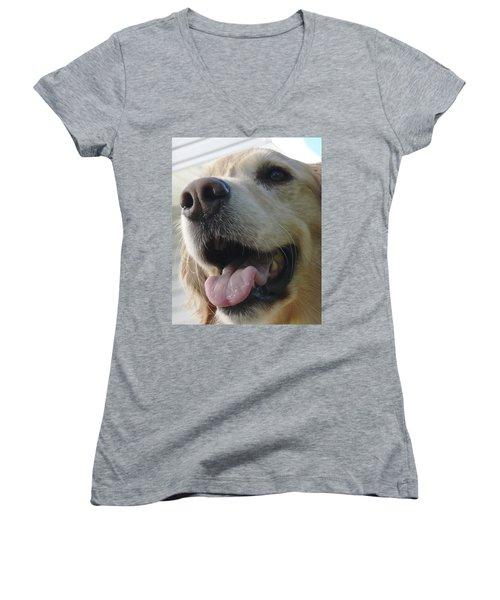Morgie Women's V-Neck T-Shirt