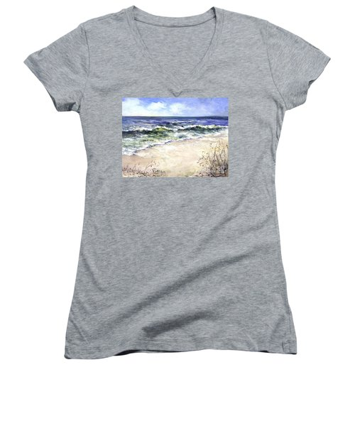 Morning After The Storm Women's V-Neck (Athletic Fit)