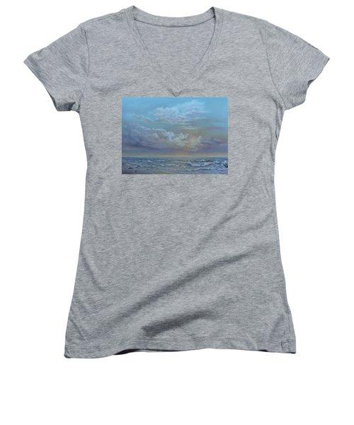 Morning At The Ocean Women's V-Neck
