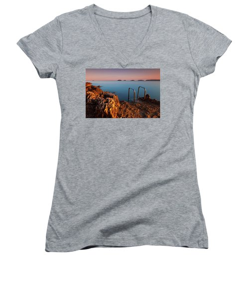 Morning Colors Women's V-Neck (Athletic Fit)