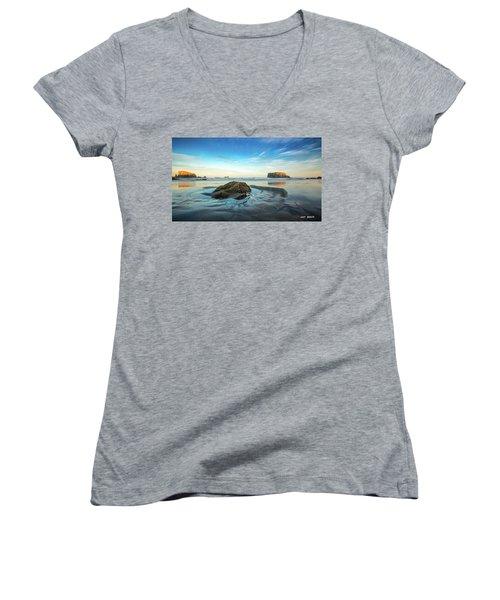 Morning Comes Women's V-Neck T-Shirt