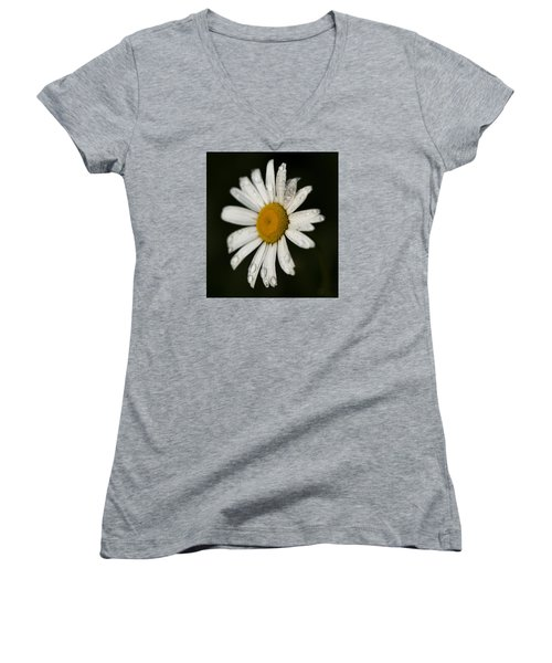 Morning Daisy Women's V-Neck (Athletic Fit)