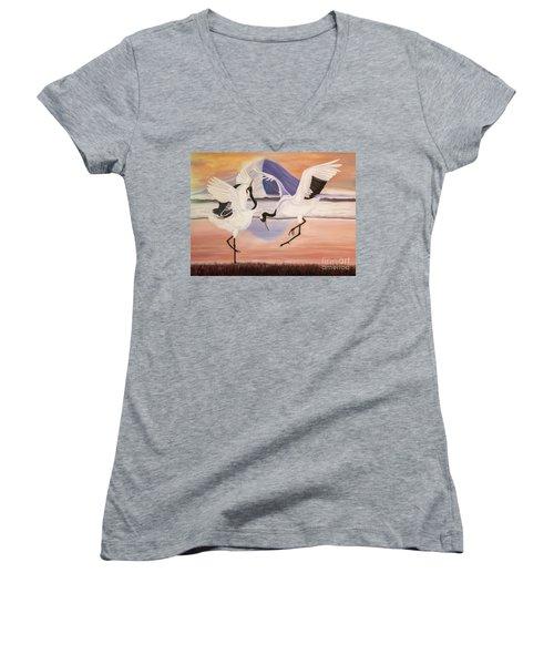 Morning Dance Women's V-Neck T-Shirt