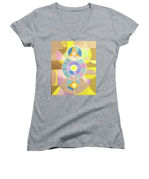 Morning Glory Geometrica Women's V-Neck (Athletic Fit)
