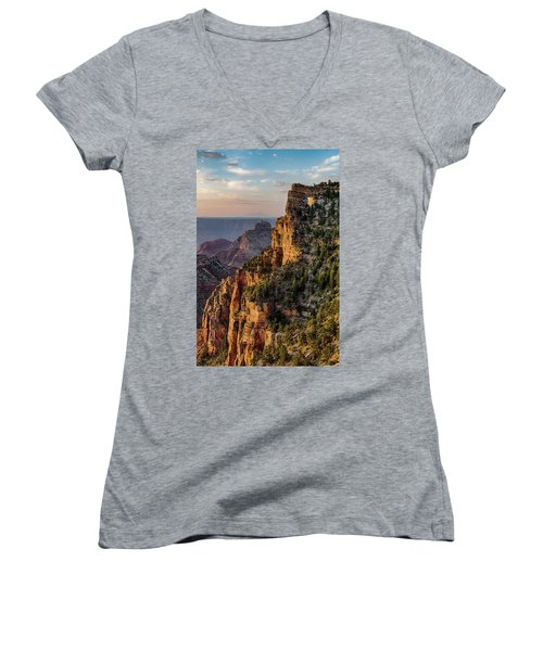 Morning Glow On Angels Window Women's V-Neck T-Shirt