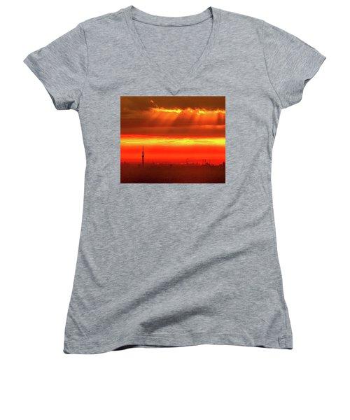 Morning Glow Women's V-Neck T-Shirt