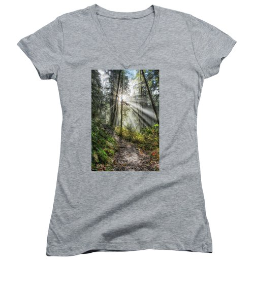 Morning Hike Women's V-Neck (Athletic Fit)