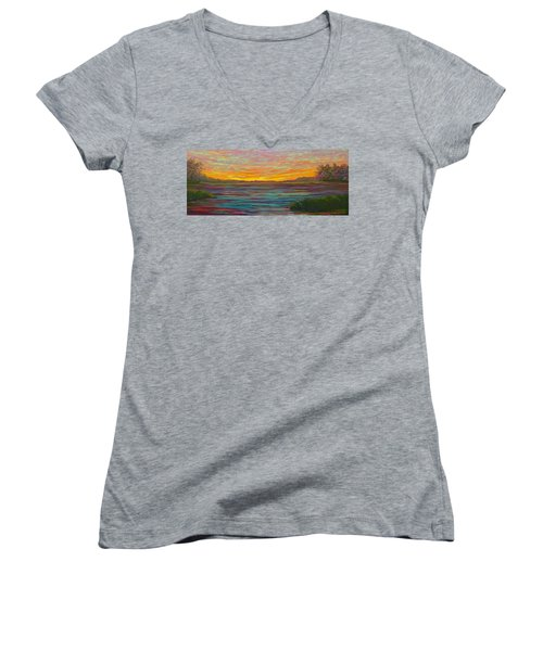 Southern Sunrise Women's V-Neck (Athletic Fit)