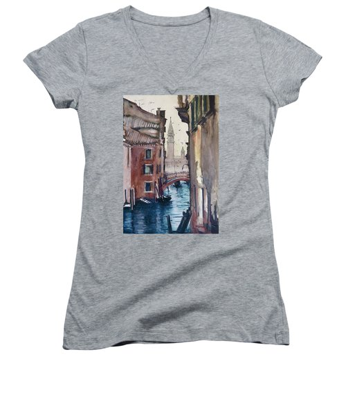 Morning In Venice Women's V-Neck T-Shirt