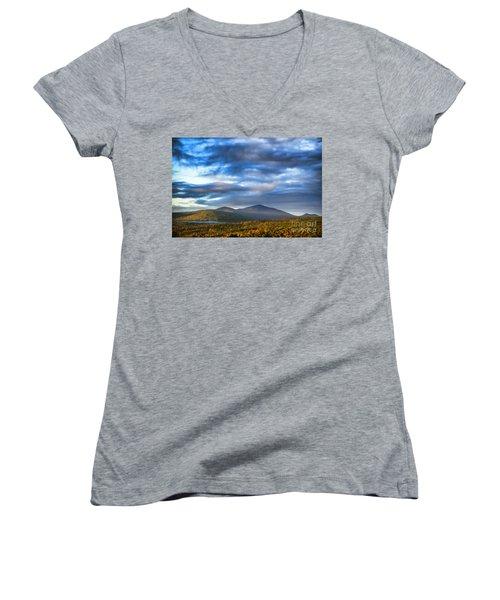 Morning Light Women's V-Neck T-Shirt (Junior Cut) by Alana Ranney