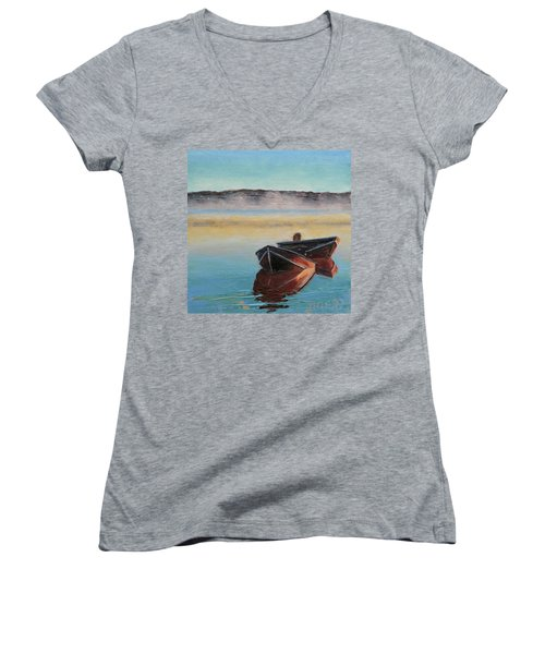 Morning Mist Women's V-Neck T-Shirt