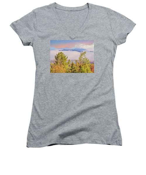 Morning Mountain View Northern New Hampshire. Women's V-Neck