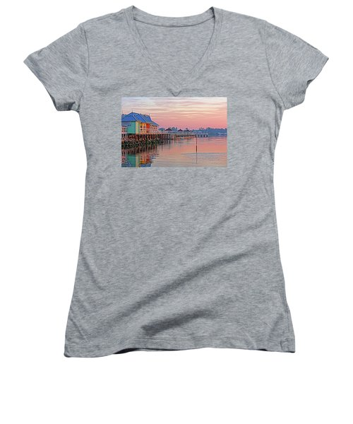Morning Peace Women's V-Neck (Athletic Fit)