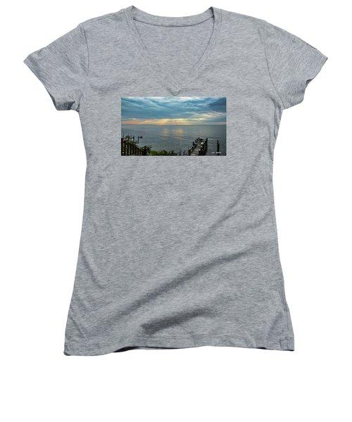 Morning Rays Women's V-Neck T-Shirt