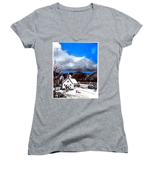 Morning Snow Ministry Women's V-Neck (Athletic Fit)