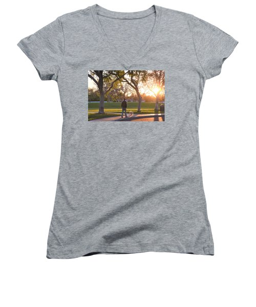 Morning Stroll Women's V-Neck (Athletic Fit)