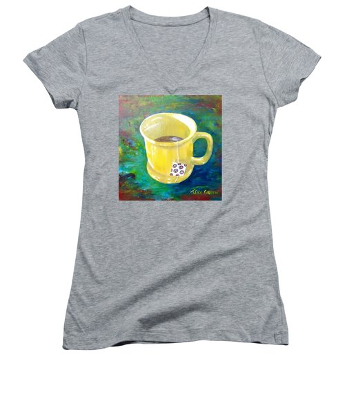 Morning Tea Women's V-Neck T-Shirt