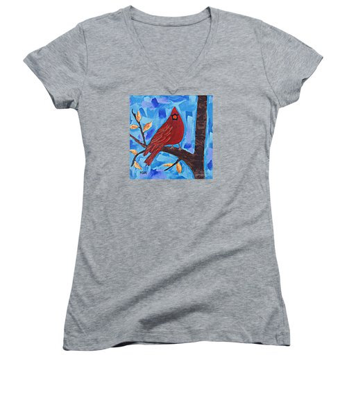 Morning Visit Women's V-Neck T-Shirt (Junior Cut)