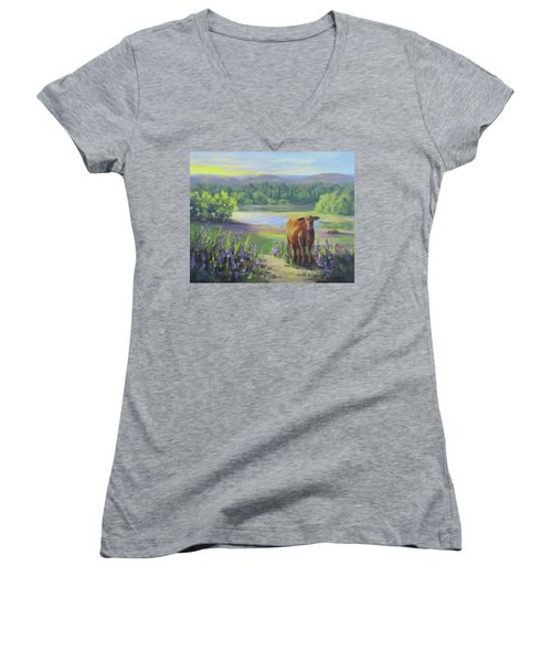 Morning Walk Women's V-Neck (Athletic Fit)