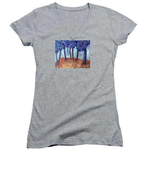 Mosaic Daydreams Women's V-Neck T-Shirt (Junior Cut) by Elizabeth Fontaine-Barr