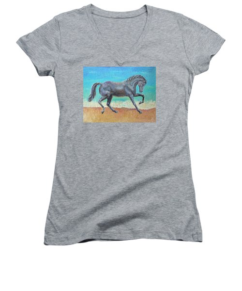 Mosaic Women's V-Neck T-Shirt (Junior Cut)
