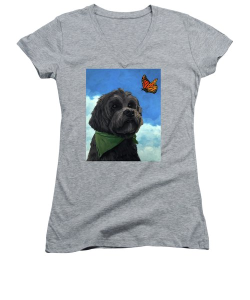 Moses - Pet Portrait Women's V-Neck