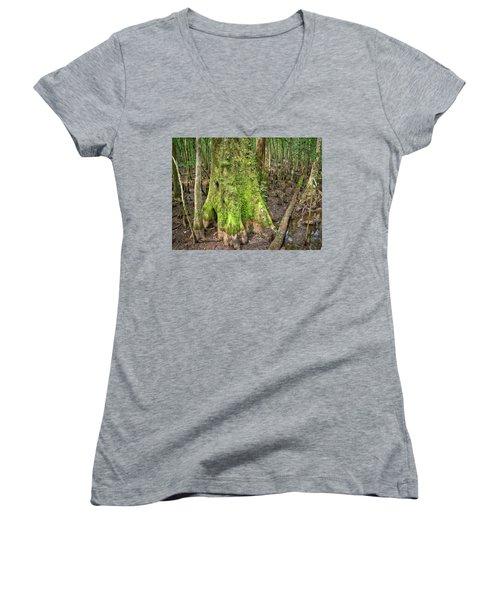 Mossy Cypress Women's V-Neck