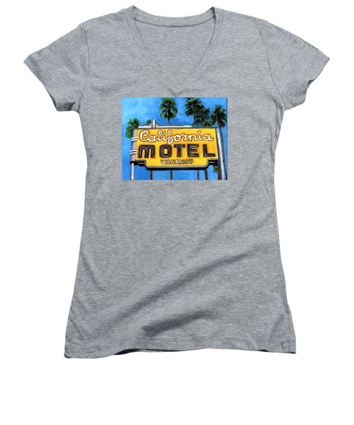 Motel California Women's V-Neck (Athletic Fit)