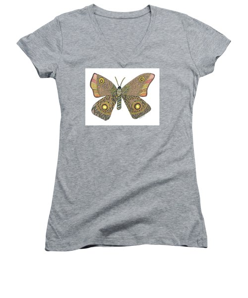 Moth Women's V-Neck (Athletic Fit)