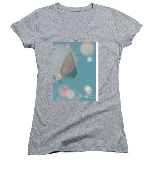 Moth World Women's V-Neck T-Shirt (Junior Cut)