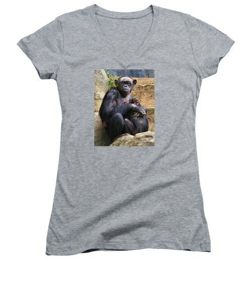 Mother And Child Women's V-Neck T-Shirt