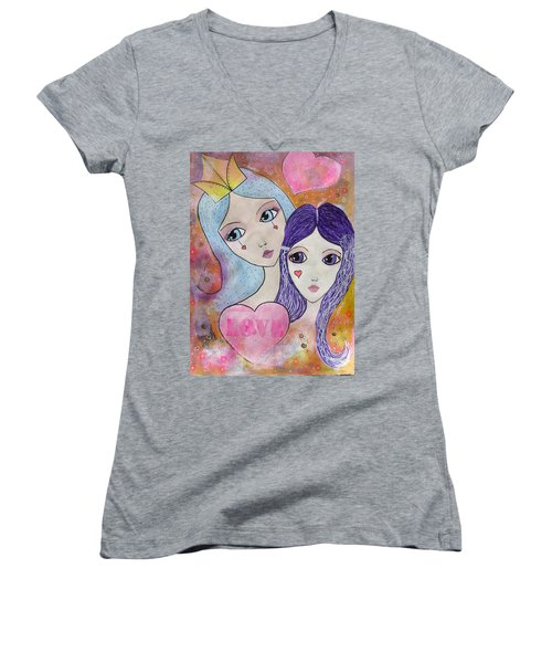 Mother And Daughter Women's V-Neck T-Shirt