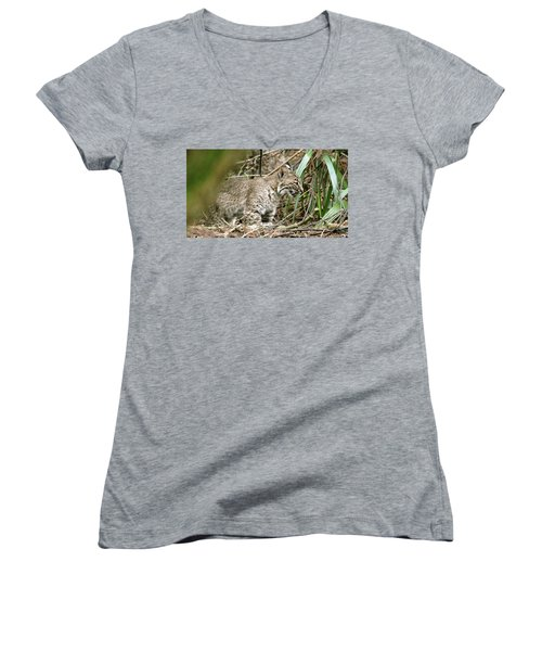 Mother Bobcat Women's V-Neck