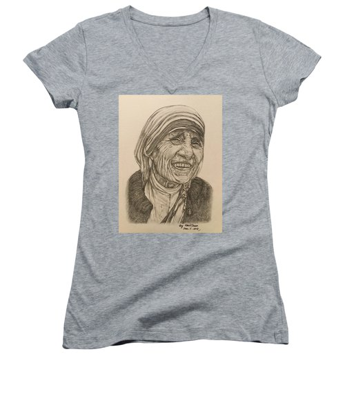 Mother Theresa Kindness Women's V-Neck T-Shirt