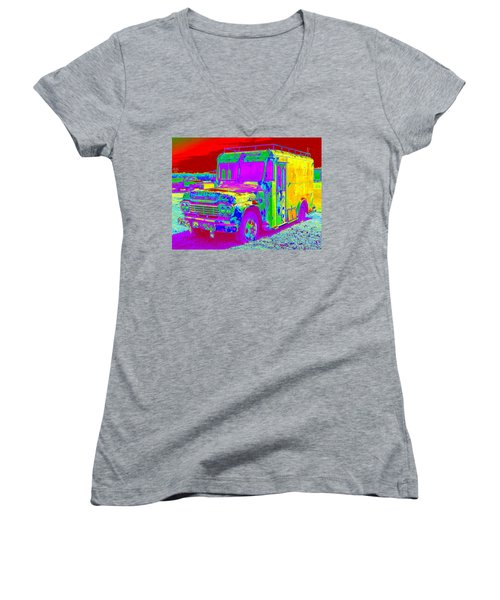 Motor City Pop #14 Women's V-Neck