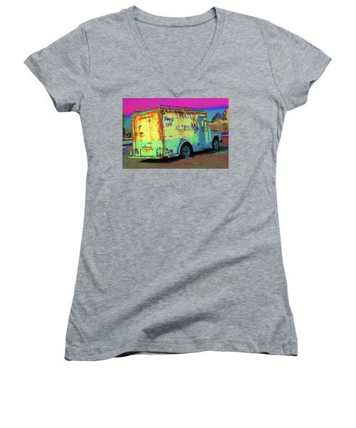 Motor City Pop #18 Women's V-Neck