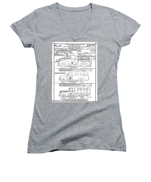 Motor Vehicles Women's V-Neck (Athletic Fit)