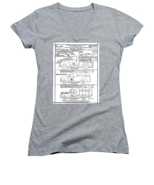 Motor Vehicles Women's V-Neck