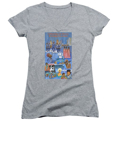 Motown Commemorative 50th Anniversary Women's V-Neck (Athletic Fit)