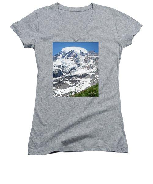 Mount Rainier Women's V-Neck T-Shirt