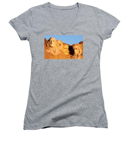 Mount Rushmore Women's V-Neck
