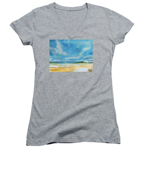 View Of Mount Wellington From South Bruny Island Women's V-Neck