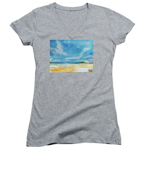 View Of Mount Wellington From South Bruny Island Women's V-Neck (Athletic Fit)