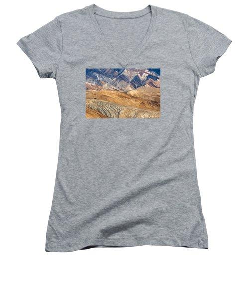 Mountain Abstract 4 Women's V-Neck