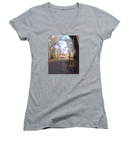 Mountain Bike Trail Women's V-Neck (Athletic Fit)